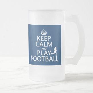 Guarde el fútbol de la calma y del juego el color tazas