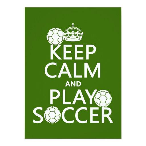 """Guarde el fútbol de la calma y del juego invitación 5.5"""" x 7.5"""""""