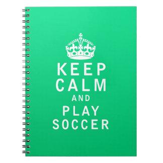 Guarde el fútbol de la calma y del juego libretas espirales