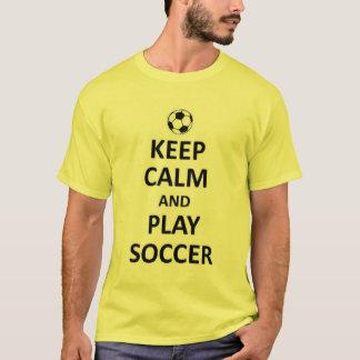guarde el fútbol de la calma y del juego playera