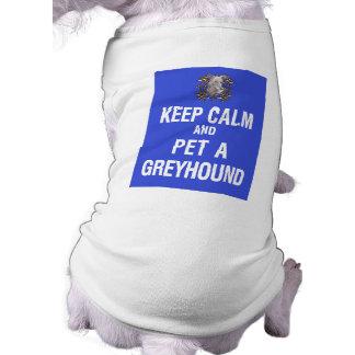 Guarde el galgo tranquilo del mascota ropa de perros