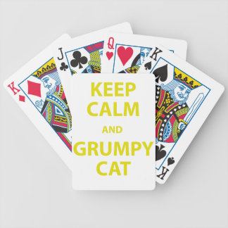 Guarde el gato tranquilo y gruñón baraja cartas de poker