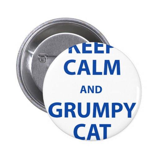 Guarde el gato tranquilo y gruñón pins