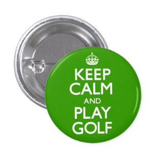 Guarde el golf de la calma y del juego continúe pins
