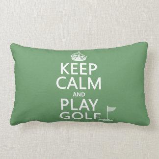 Guarde el golf de la calma y del juego - todos los almohada