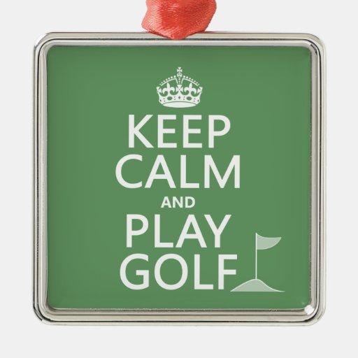 Guarde el golf de la calma y del juego - todos los ornato