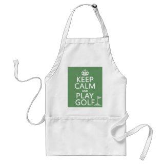 Guarde el golf de la calma y del juego - todos los delantal