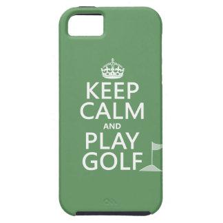 Guarde el golf de la calma y del juego - todos los iPhone 5 coberturas