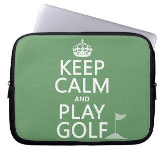 Guarde el golf de la calma y del juego - todos los fundas computadoras
