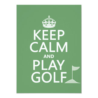 Guarde el golf de la calma y del juego - todos los invitación 13,9 x 19,0 cm
