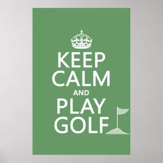 Guarde el golf de la calma y del juego - todos los póster