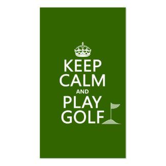 Guarde el golf de la calma y del juego - todos los plantillas de tarjetas de visita