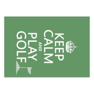 Guarde el golf de la calma y del juego - todos los tarjetas de visita