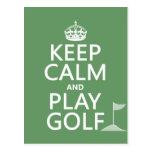 Guarde el golf de la calma y del juego - todos los tarjetas postales