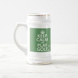 Guarde el golf de la calma y del juego - todos los jarra de cerveza