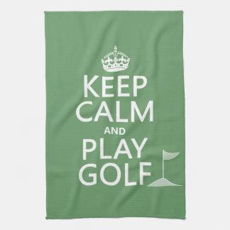Guarde el golf de la calma y del juego - todos los toalla