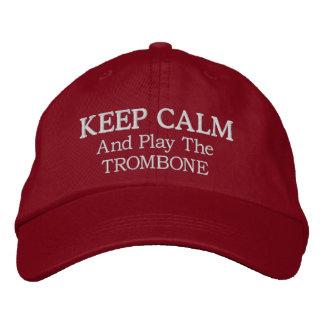 Guarde el gorra bordado música tranquila del gorras bordadas