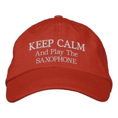 Guarde el gorra bordado música tranquila del saxof gorras de béisbol bordadas