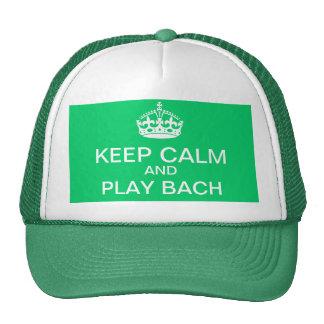 Guarde el gorra de Bach de la calma y del juego