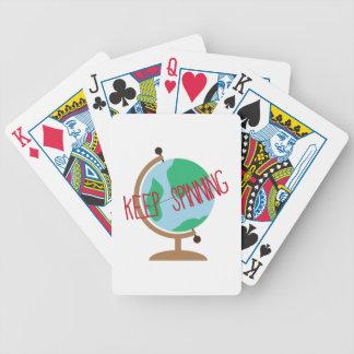 Guarde el hacer girar cartas de juego