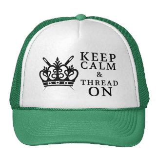 Guarde el hilo tranquilo encendido gorras de camionero