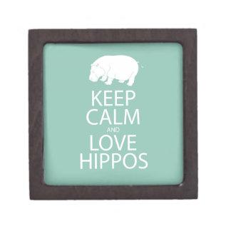 Guarde el Hippopotamus de la impresión de los hipo Cajas De Joyas De Calidad