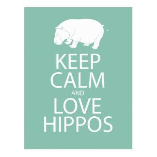 Guarde el Hippopotamus de la impresión de los Postales