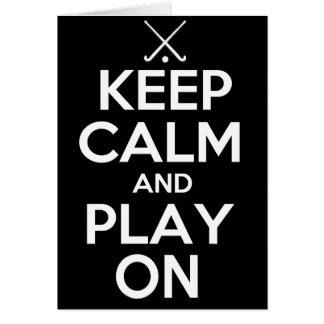 Guarde el hockey hierba de la calma y del juego en tarjeton