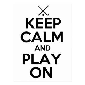 Guarde el hockey hierba de la calma y del juego postales
