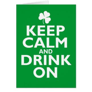 Guarde el humor tranquilo del día del St Patricks Tarjetas