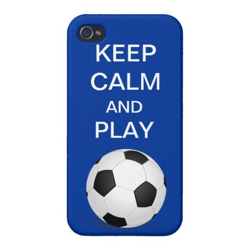 Guarde el iPhone 4 del fútbol de la calma y del ju iPhone 4/4S Fundas