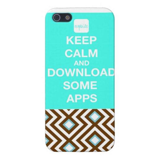 """""""Guarde el iPhonecase lindo de Apps de la calma y  iPhone 5 Carcasa"""