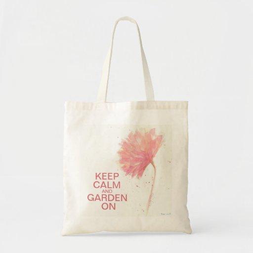 Guarde el jardín tranquilo en bolso del clavel bolsas