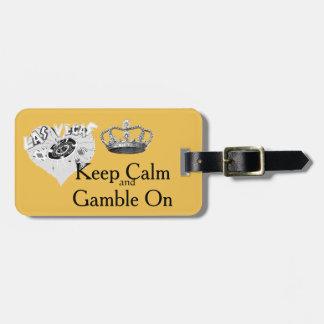 Guarde el juego tranquilo Las Vegas Etiquetas Para Maletas