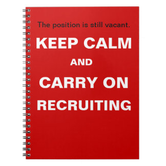 Guarde el lema divertido de reclutamiento libretas