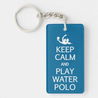 Guarde el llavero del water polo de la calma y del