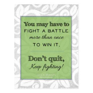 ¡Guarde el luchar! ¡Dios está con usted! Postales