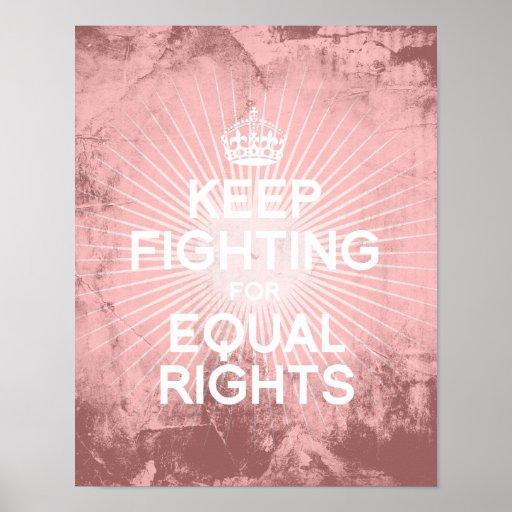 GUARDE el LUCHAR PARA RIGHTS.png IGUAL Póster