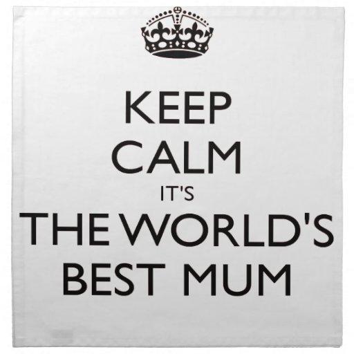 guarde el mejor regalo del día de madres de la mom servilletas imprimidas