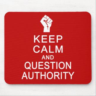 Guarde el mousepad de la autoridad de la calma y d