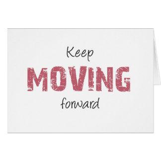 Guarde el moverse adelante