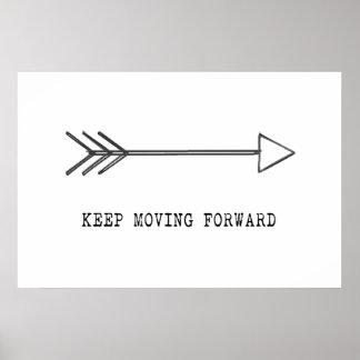 Guarde el moverse adelante póster