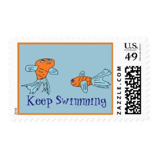 Guarde el nadar del sello