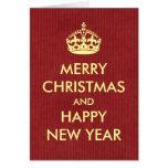 Guarde el navidad tranquilo del estilo el saludar  felicitacion