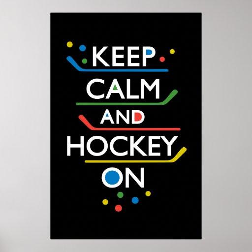 Guarde el negro de la calma y del hockey encendido impresiones
