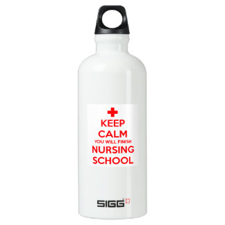 Guarde el oficio de enfermera tranquilo botella de agua