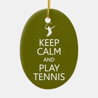 Guarde el ornamento del personalizado del tenis de ornamento para arbol de navidad