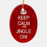 Guarde el ornamento tranquilo del tintineo del adornos de navidad