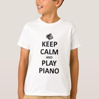 guarde el piano de la calma y del juego playera