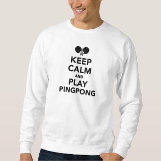 Guarde el ping-pong de la calma y del juego sudadera con capucha